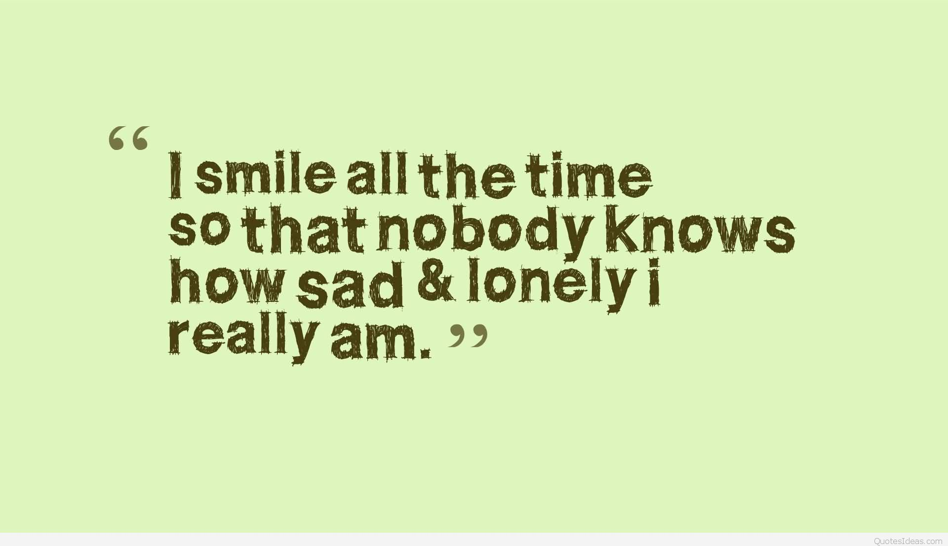 Sad lonely quote image
