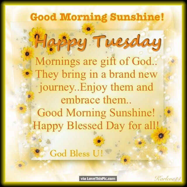 Good Morning Quotes Good Morning Sunshine Happy Tuesday Quotes