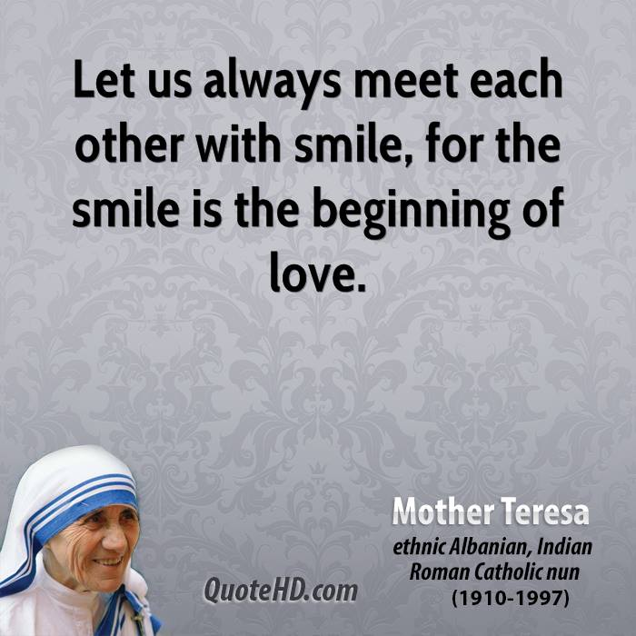 Mother Teresa Quotes Smile (2)